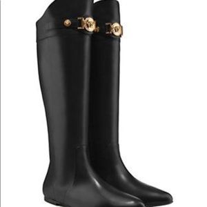 a834f80bec9 Versace Shoes | Authentic Womens Signature Flat Boots | Poshmark